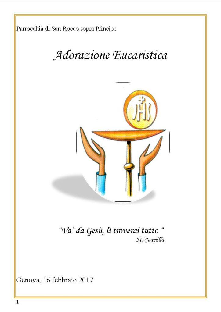 adorazine eucaristica 16 feb. 2017