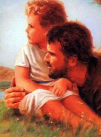 San José con Jesús en el campo